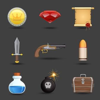 Iconos de recursos del juego