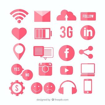 Iconos de red social