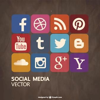 Iconos de redes sociales de colores
