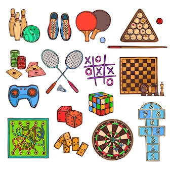 Iconos del bosquejo del juego