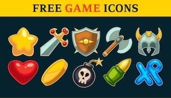 Iconos del juego y juego de armas vector