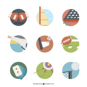 Iconos deportivos redondos