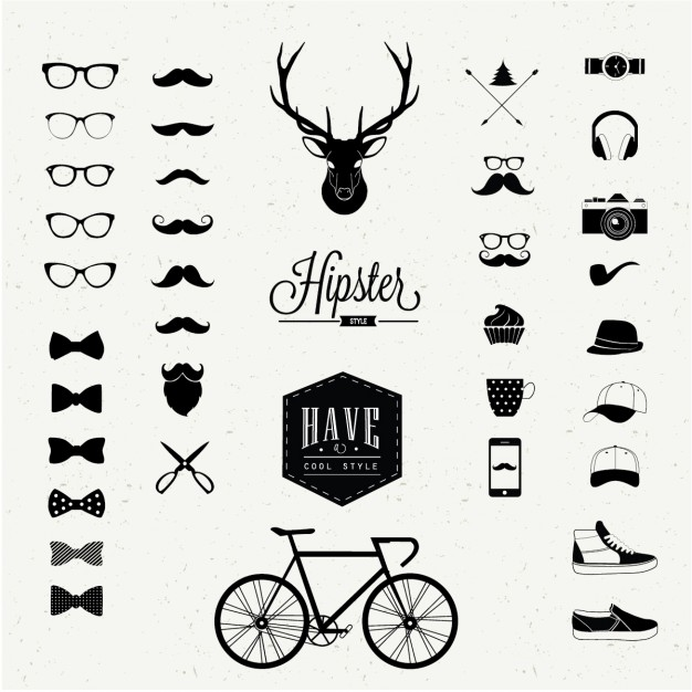 Iconos hipster