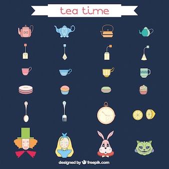 Iconos hora del té