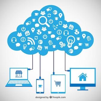 Iconos Informática infografía