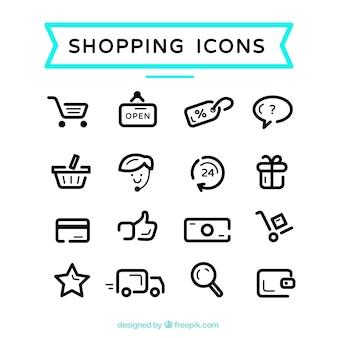 Iconos lindos de compras