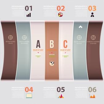 Iconos marco folleto banda de papel