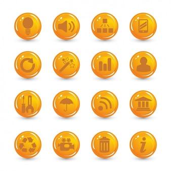 Iconos naranjas