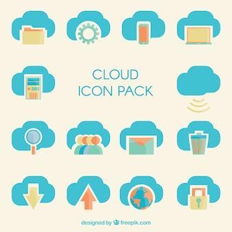 Iconos Nube paquete