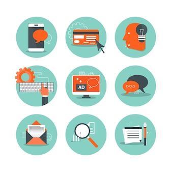 Iconos para empresas y tecnología