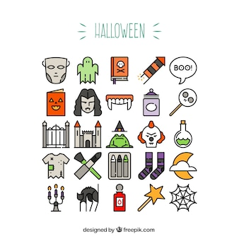 Iconos Scary Halloween