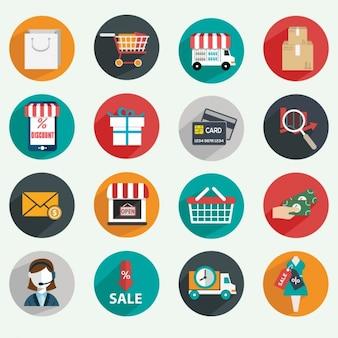 Iconos sobre comercio electrónico