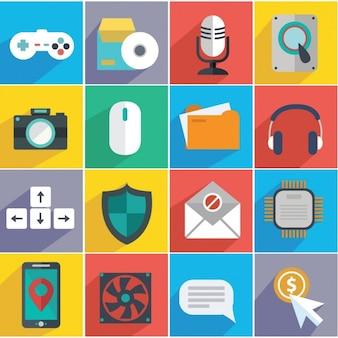 Iconos sobre tecnología