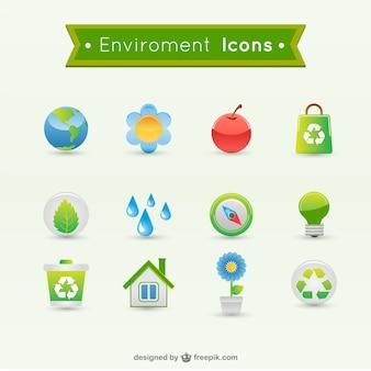 iconos vectoriales del medio ambiente