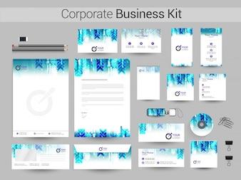Identidad corporativa con diseño abstracto creativo.