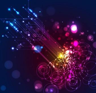 Iluminación de fondo abstracto de vectores