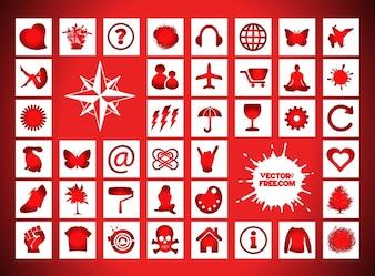 Iluminación chat Iconos señales vectoriales