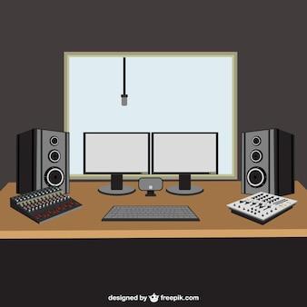 Ilustración de estudio de música