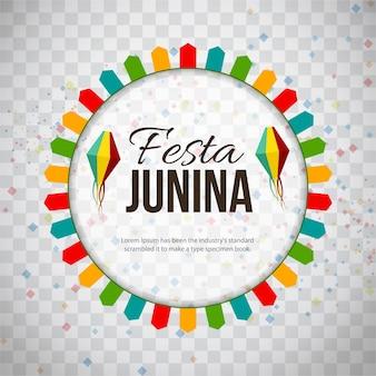 Ilustración circular de festa junina