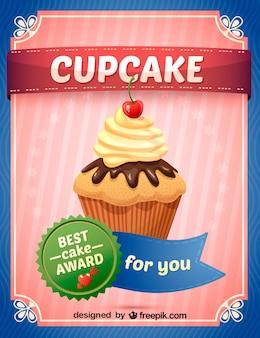 Ilustración cupcake gratis