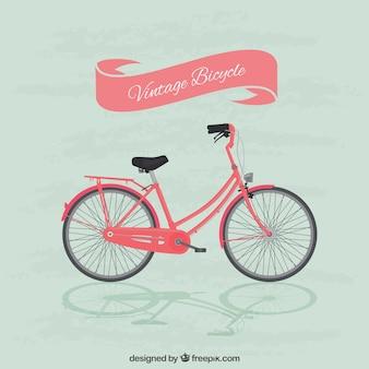 Ilustración de bici vintage