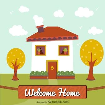 Ilustración de bienvenido a casa
