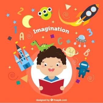 Ilustración de concepto de imaginación