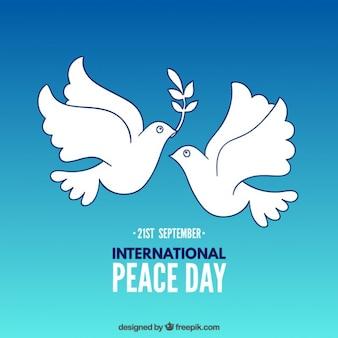 Ilustración de día internacional de la paz