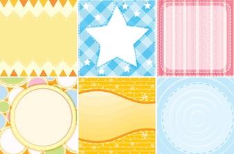 Ilustración de diferentes plantillas para niños