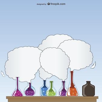 Ilustración de experimentos de laboratorio