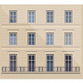 Ilustración de fachada francesa