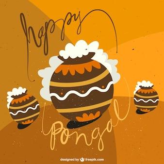 Ilustración de feliz pongal