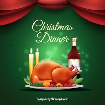 Ilustración de la cena de navidad