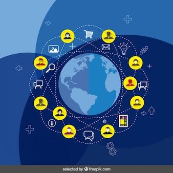 Ilustración de la red