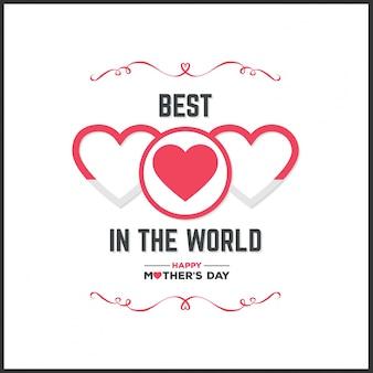 Ilustración de lettering para el día de la madre con ornamentos