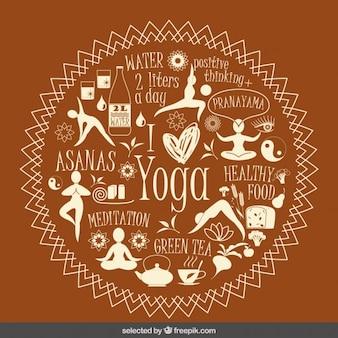 Ilustración de me encanta el yoga