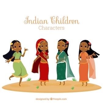 Ilustración de mujeres indias
