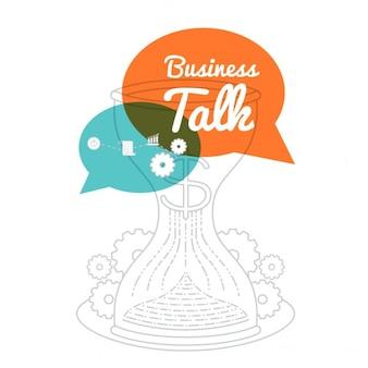 Ilustración de negocio con globos de diálogo