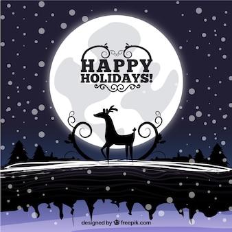 Ilustración de noche de navidad