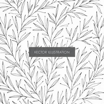 Ilustración de patrón botánico
