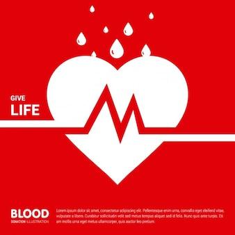 Ilustración de plantilla de donación de sangre