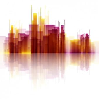 Ilustración de rascacielos abstractos