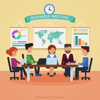 Ilustración de reunión de negocios