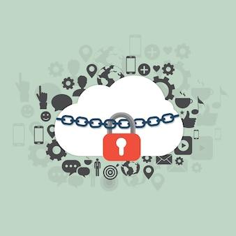 Ilustración de seguridad en la nube