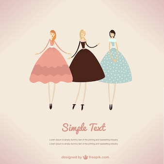Ilustración de vestidos vintage