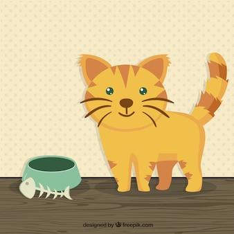 Ilustración del gato