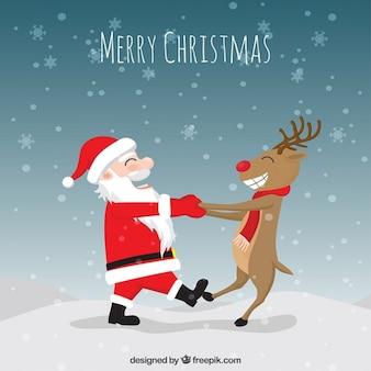 Ilustración divertida de navidad