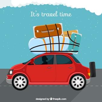 Ilustración es tiempo de viajar
