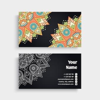 Ilustración floral de tarjeta de visita