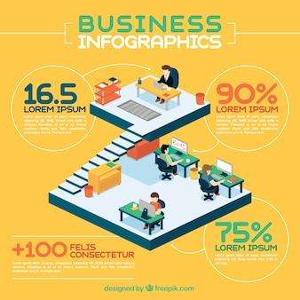 Ilustración infográfica de negocios
